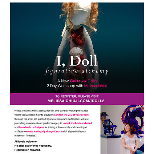 I, Doll Figurative Sculpture Workshop Flyer