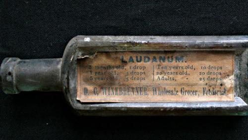 Civil War era bottle of Laudanum/Opium
