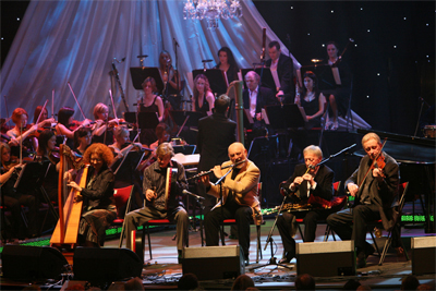 The Chieftains perform on stage