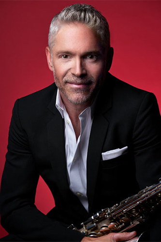 Dave Koz with sax