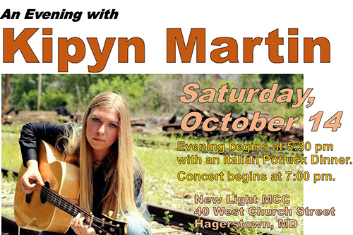 Kipyn Martin Concert Flyer.