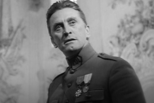 Path of Glory Movie Still with Kirk Douglas