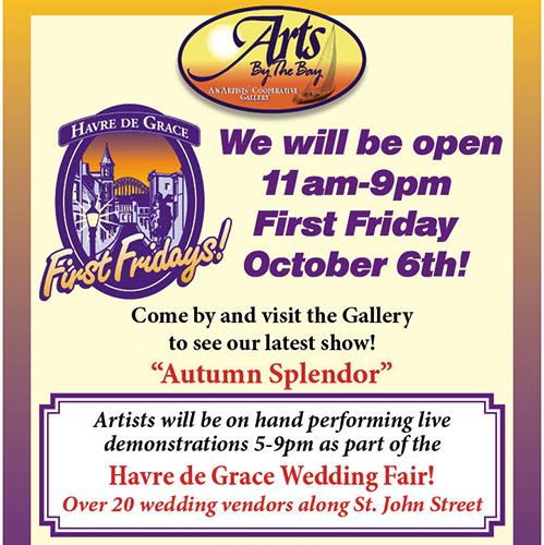 Arts by the Bay 1st Fri & Wedding Fair poster