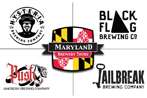 Four Howard County Brewery logos