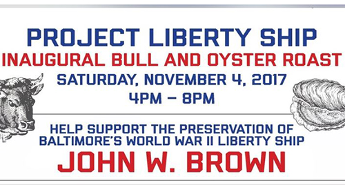 Project Liberty Ship's  Bull & Oyster Roast poster