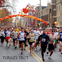 Photo of runners at the Frederick Turkey Trot