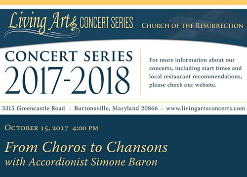 Concert flier - From Choros to Chansons