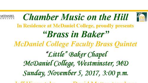 Brass in Baker flyer