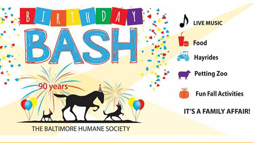 Baltimore Humane Society Birthday Bash poster