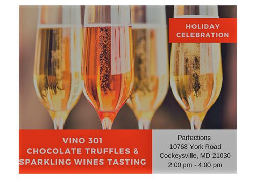 Chocolate Truffles and Sparkling Wine poster