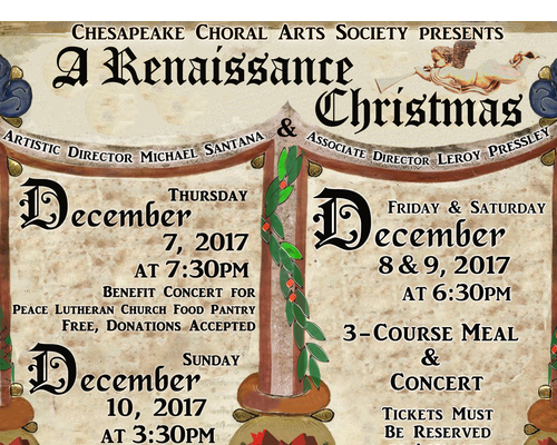A Renaissance Christmas poster