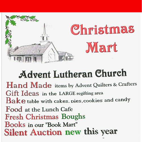 Christmas Mart Advent Lutheran Church poster
