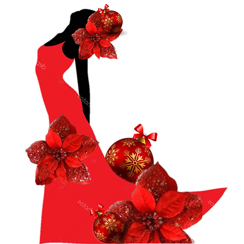 Divas Deck the Halls pointsettia logo