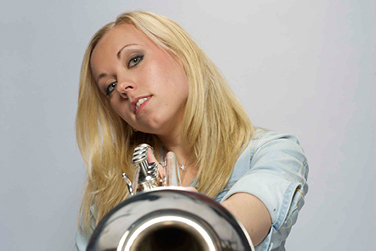 Tine Thing Helseth with trumpet