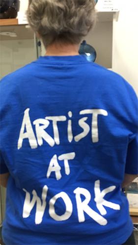 Artist wearing an