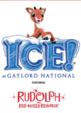 ICE - with Rudolph the Red-Nosed Reindeer logo