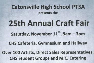 Catonsville High School Craft Fair flyer