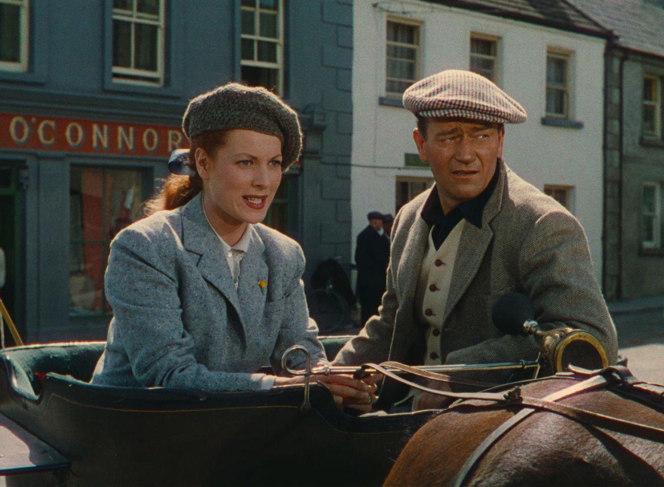 John Wayne and Maureen O'Hara in The Quiet Man 1952