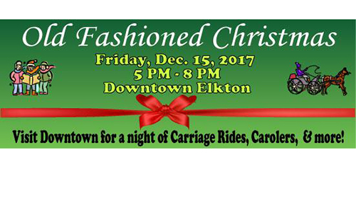 Elkton's Old Fashioned Christmas poster