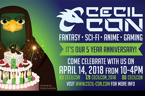 Cecil Con 2018 poster for 5th anniversary