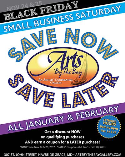 Arts by the Bay-Black Fri & Small Biz Sat poster