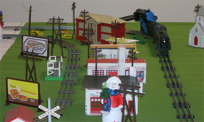 small segment of Martinville, an annual holiday display of trains and planes.