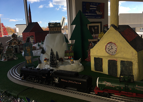 Miracle in the Showroom - photo of train garden