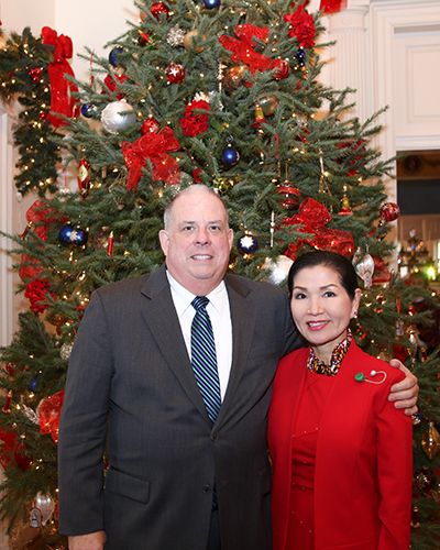Governor Hogan & the First Lady at Christmas