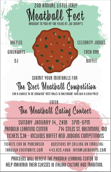 Meatball Festival Poster