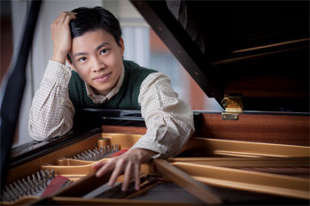 Kit Armstrong rounds out the program with Mozart's Piano Concerto No 22 in E-flat Major