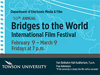 Poster advertising Bridges to the World International Film Festival.