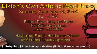 Elkton Antique Roadshow flyer