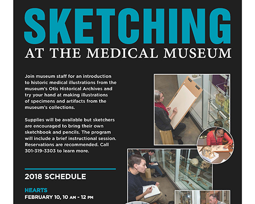 Sketching at the Museum poster