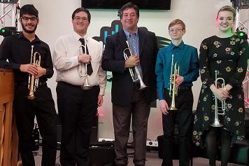 BSO Trumpeter Rene Hernandez & students in 2017