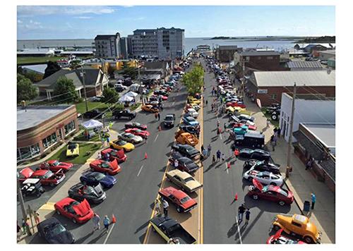 Classic car show on Main Street
