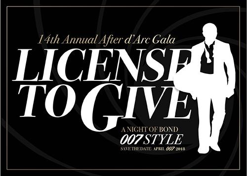 After d'Arc Gala James Bond 007 Invitation