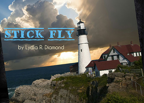 Lighthouse Image with the words Stick Fly