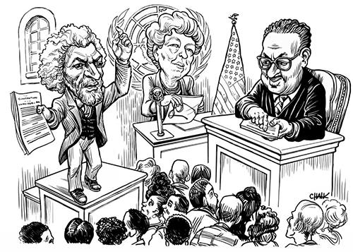 Chautauqua 2018 drawing of historical figures