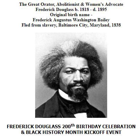 Frederick Douglass 200th Birthday flyer