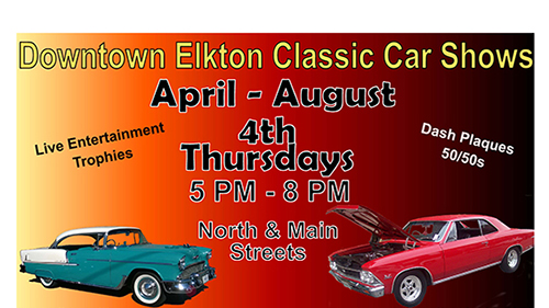 Downtown Elkton Classic Car Show poster
