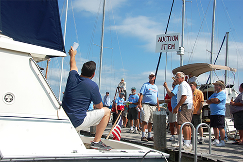 Charity Boat Auction underway