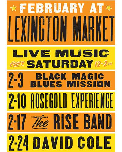 Lexington Market Black History Month Concerts