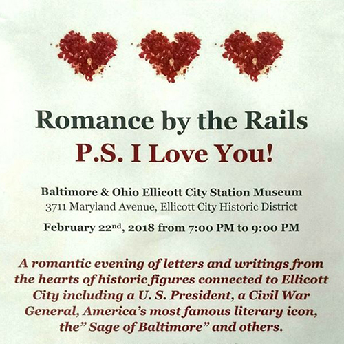 Romance by the Rails event flyer