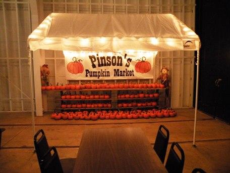 Pinson's Pumpkin Market in streetcar hall.
