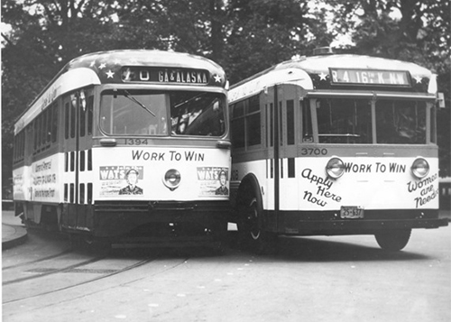 Two Work to Win Street Cars With Signs