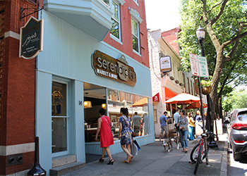 People Shopping in Downtown Frederick