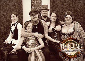 Steampunk Frederick artists in steampunk garb