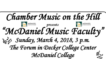 McDaniel Music Faculty flyer
