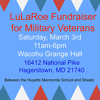 Giving Back to Military Vets LuLaRoe flyer