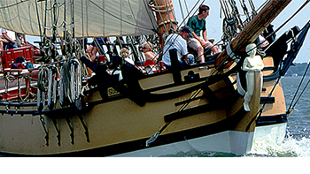 The Sultana under sail